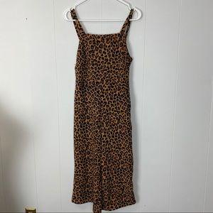 Love, Fire Cheetah Print Wide Leg Jumpsuit